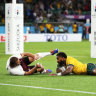 Koroibete credits improved agility and acceleration for eye-catching tries