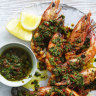 Karen Martini's barbecued prawns with chermoula