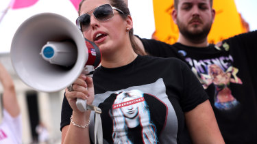 Cassandra Dumas at the #FreeBritney rally at the Lincoln Memorial in Washington, DC.