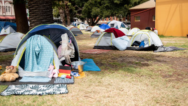 Fremantle's tent city at Pioneer Park