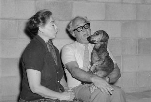 Brian and Marjorie Johnstone with their dog Lindy.