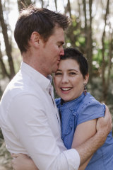 Nick Kelly with his wife Nicole, who passed away peacefully January 2, 2020.