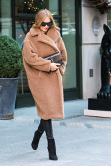 Rosie Huntington-Whiteley was an early adopter of the cult Teddy Coat.
