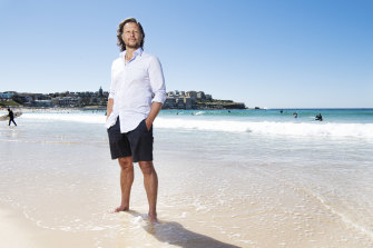 Janek Gazecki at Bondi Beach.