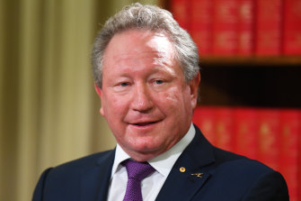 Dr Andrew Forrest will pour $5 million into Western Australia rugby over the next five years.