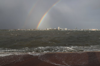 High seas have smashed into beaches along much of the WA coastline, including Perth.