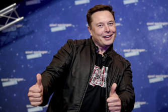 Tesla's Elon Musk answered initial queries with a question mark -?- and did not answer follow-up questions.