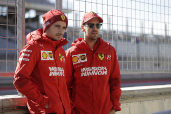 Ferrari teammates Charles Leclerc (left) and Sebastian Vettel clashed on the track last year.