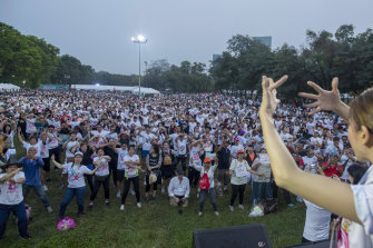 Thousands of Future Forward Party supporters attended the anti-government event.