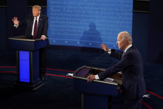 Clash of the candidates: Trump and Biden.