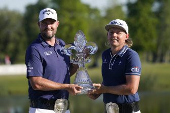 Marc Leishman and Cameron Smith are $2.7 million richer after their win in New Orleans.