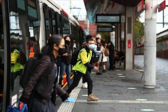 Masks are back on among commuters in Sydney.