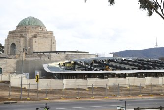 The Australian War Memorial's Anzac Hall is being demolished to make way for a larger exhibition building.
