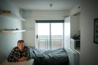 Colin Johnstone, who was formerly homeless, has found permanent accommodation just in time for lockdown 2.0