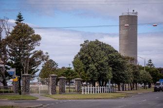 Port Albert's water silo.