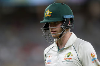 Steve Smith has not reached 50 in his past four Test innings.