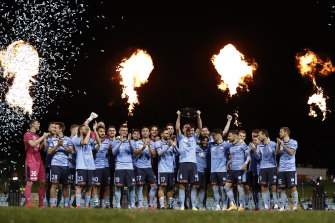 Sydney FC's premiership celebrations masked the true feelings of their players after a 2-1 defeat to Western United.