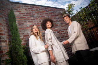 COMMAS designers Emma and Richard Jarman (with model, centre) won the 2021 National Designer Award.