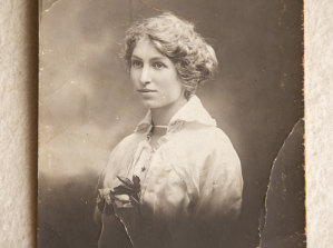 'Sweetheart' Violet Clapson to whom Idris Charles Pike wrote during four years of service in WW1.