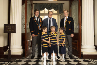 The Scots College principal, Dr Ian Lambert, with students. The college will participate in a ground-breaking teacher training program next year.
