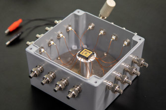 The diamond circuit in its test casing.