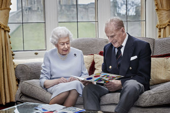 Queen Elizabeth II and the Duke of Edinburgh at Windsor Castle in November. A new poll has found support for the idea of Australia becoming a republic has slipped.
