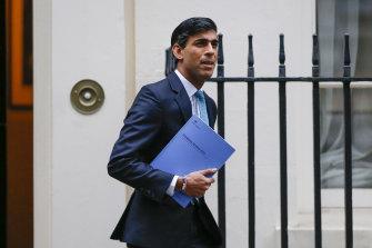 British Chancellor Rishi Sunak.