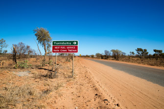 Tanami Road between Alice Springs and the remote Aboriginal community of Yuendumu.