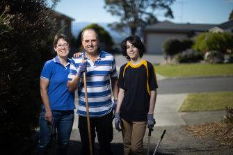Jane, Dennis and Liam Sultana.