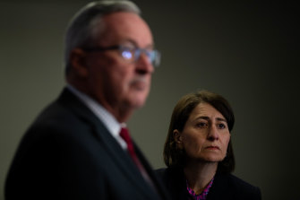 Waiting for information: NSW Premier Gladys Berejiklian was caught by surprise by a federal government plan to involve the defence force in the vaccine rollout.