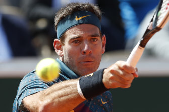 Juan Martin del Potro at the French Open in May.