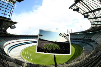 The AFL will be guided by government policy when fans are allowed back in stands.