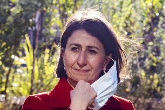 NSW Premier Gladys Berejiklian fronts the media on Saturday, before announcing a two-week lockdown.