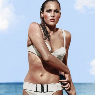 Ursula Andress's famous scene in 1962's Dr. No.