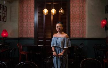 Pauline Nguyen in her restaurant, Red Lantern, in Darlinghurst.