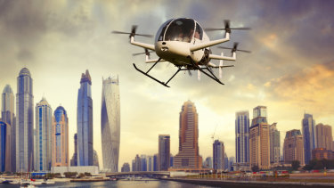 Drones transporting people around cities could be a reality in the not-too-distant future.