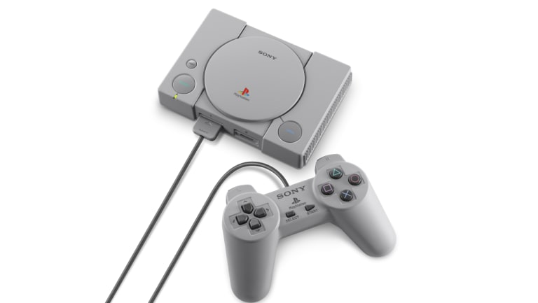 Sony artfully obscures the length of the controller cable, which was a point of contention on Nintendo's machines.