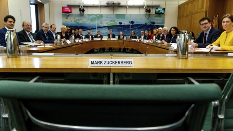 Mark Zuckerberg was always an unlikely attendee at the hearing.