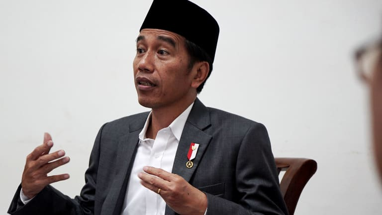 Indonesian president Joko Widodo in an interview with Fairfax Media this week.