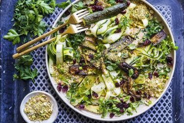 charred zucchini salad