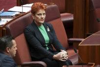 Pauline Hanson in the Senate on Thursday.