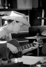 """""""What is folk music but music about hard times and human struggles?"""" says Gillian Welch, pictured in the studio last year."""