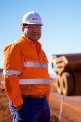 BHP's Edgar Basto at the company's South Flank mine.