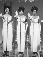 Mary Wilson (right), pictured with, from left, fellow Supremes singers Florence Ballard and Diana Ross, around 1965.