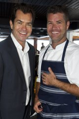 Before the storm: Dave and Pete Evans in 2011.