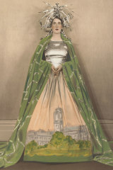 Pageant of Nations costume by Thelma Thomas worn by Jessie Brookes in 1934 and 1935