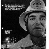 A 3M advertisement for fire fighting foam.
