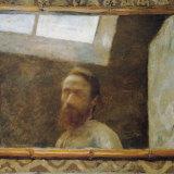Self Portrait in a Bamboo Mirror by Edoaurd Vuillard.