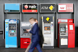 NAB, ANZ and Westpac have rallied about 75 per cent from their 2020 lows, and CBA is up about 60 per cent.