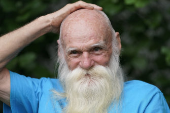 """David Lidstone, 81, an off-the-grid New Hampshire hermit known to locals as """"River Dave."""""""